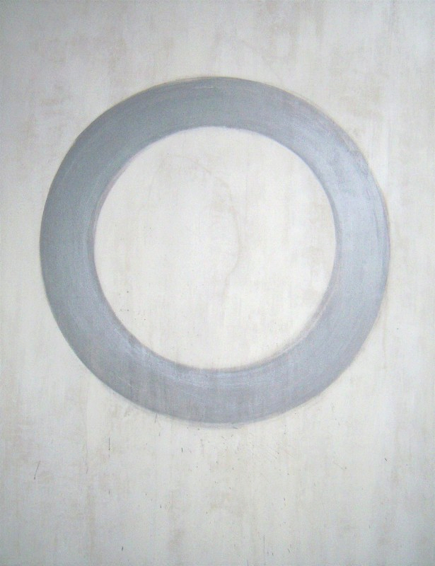 Marta Baricsa new om silver white painting