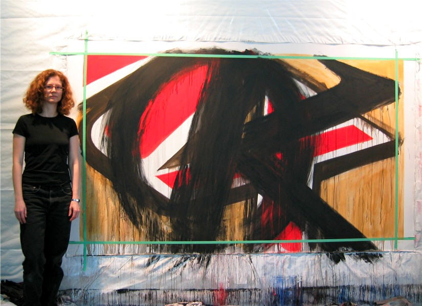 Marta Baricsa with Czar super power painting