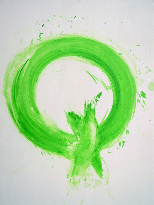 Marta Baricsa green Om intensity painting